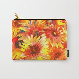 Bright Orange, Red, Yellow Flowers (blanket Flowers) Carry-All Pouch