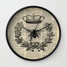 Paris french  garden farmhouse beekeeper honey bee queen Wall Clock