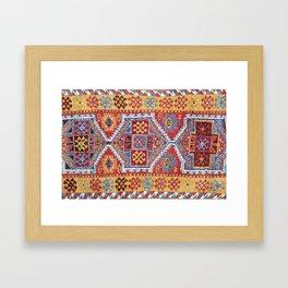 Adiyaman  Antique Turkish Rug Print Framed Art Print