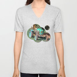 Old traditional Lindner tractor | conceptual photography Unisex V-Neck