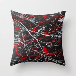 Screaming In Anger Throw Pillow
