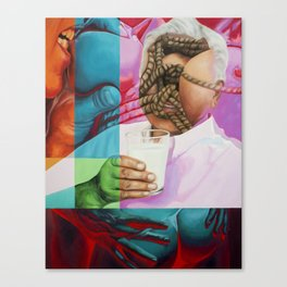 Daddy Wants Milk Canvas Print