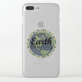 Earth Day 2019 - Textured paper Clear iPhone Case