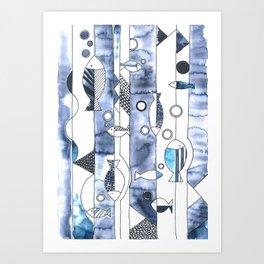 the daily creative project: fish, fish, fish Art Print