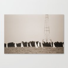 Wednesday Night Racers Head to the Bay Canvas Print
