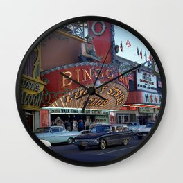 Late Afternoon at the Lucky Strike Club, Las Vegas Wall Clock