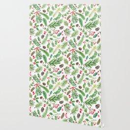 Lovely Christmas Greenery Wallpaper