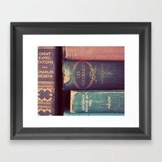 Sunday Reading Framed Art Print