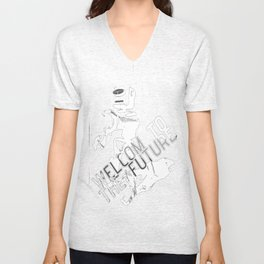 Welcome to the Future Unisex V-Neck