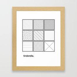 tinderella Framed Art Print