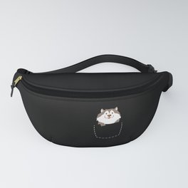 Wolf Pup In Your Pocket Cute Wolf Lover For Girls Fanny Pack