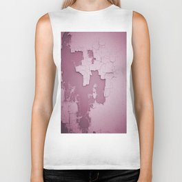 Damaged wall pic in background with pink color, ready for clothes,furnitures, iphone cases Biker Tank