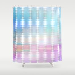Soft Pastel Oval Geometric Abstract Shower Curtain