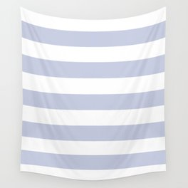 Light periwinkle - solid color - white stripes pattern Wall Tapestry