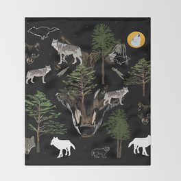 Wolf Dream  Throw Blanket
