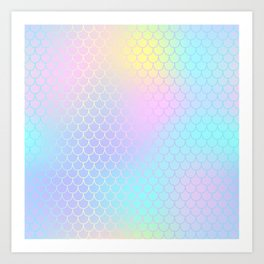 Rainbow Mermaid Abstraction Art Print