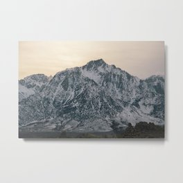 Mt. Whitney at Sunset Metal Print