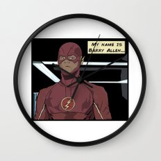 My name is Barry Allen Wall Clock