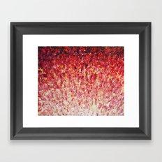 HYPNOTIC SUNRISE - Stunning Sunrise Sunset Pink Magenta Peach Crimson Bright Red Cream Framed Art Print