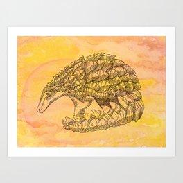 Pangolin Sun Art Print