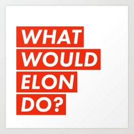 WHAT WOULD ELON DO? Art Print