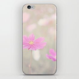 romantic flowers in soft pastel tones iPhone Skin