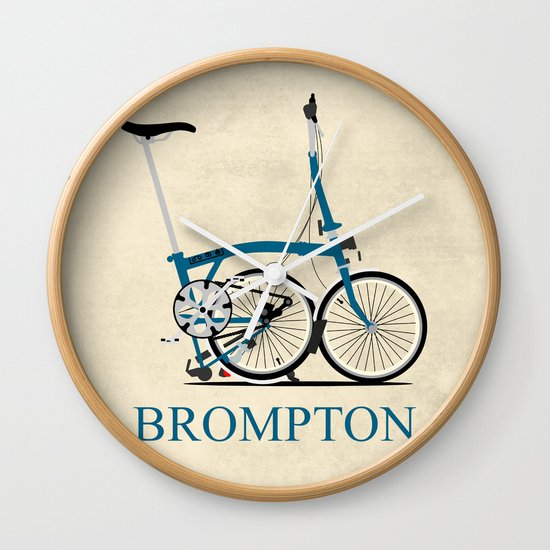 Bike Design Wall Clock : Brompton bike wall clock by wyatt design society