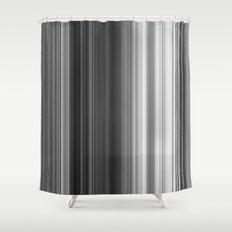 Black White Gray Thin Stripes Shower Curtain