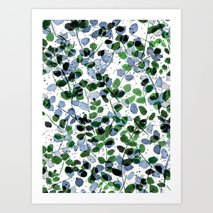 Synergy Blue Valley >> Synergy Blue And Green Art Print