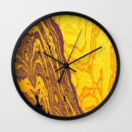 from yellow dunes to ugly shore Wall Clock