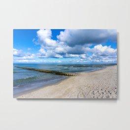 Beach walk - Holiday feeling Metal Print