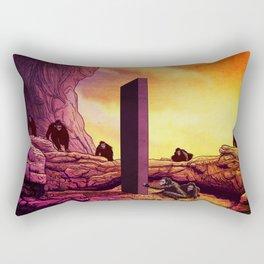 Ape Men meet Monolith - 2001 A Space Odyssey Rectangular Pillow
