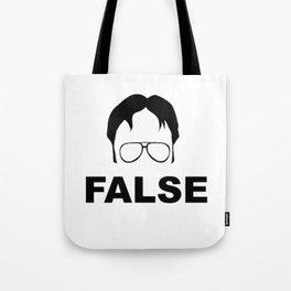 False Dwight Tote Bag