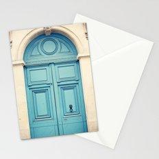 Paris door, pastel blue Stationery Cards