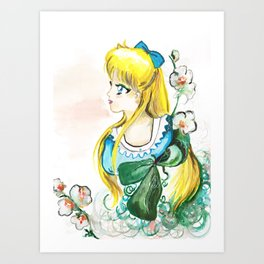 Sailor Venus White Flower Art Print