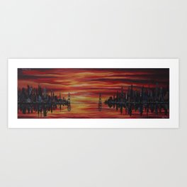 The Crimson Sky Art Print