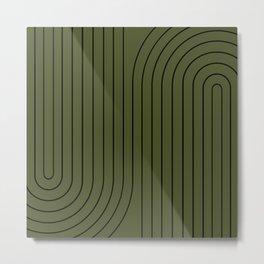 Minimal Line Curvature XVIII Metal Print