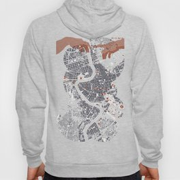 Rome city map engraving Hoody