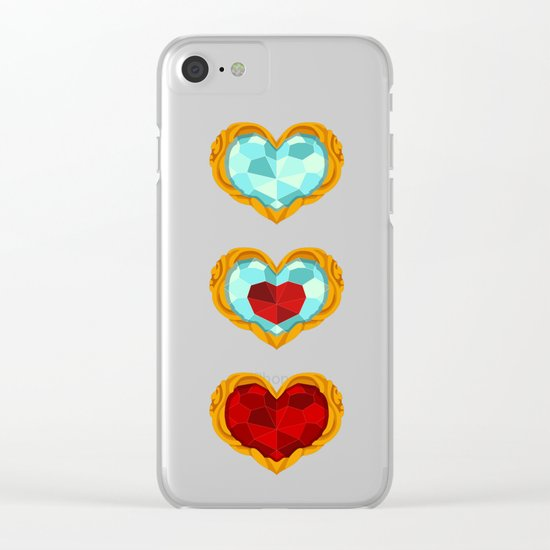 HEART CONTAINER Clear iPhone Case