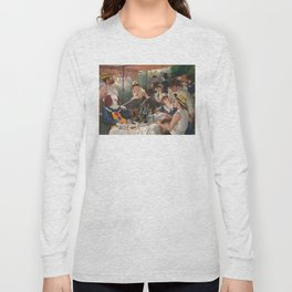 IT's Pennywise in Luncheon of the Boating Party Long Sleeve T-shirt