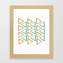 Impossible triangles geeky pattern. Framed Art Print