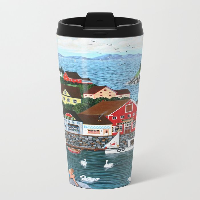 Swan's Cove Metal Travel Mug