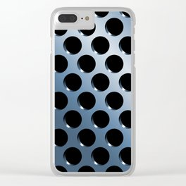 Cool Steel Graphic Art Like Polka Dots Clear iPhone Case