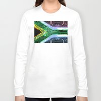 south africa Long Sleeve T-shirts featuring circuit board South Africa (Flag) by seb mcnulty