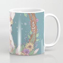 Watercolor Easter Bunny Wreath Art Coffee Mug