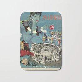 Madrid, Iberia Air Lines - Vintage Poster Bath Mat
