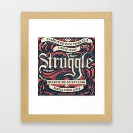 Intersectional Feminism Framed Art Print