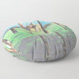 Gondola Moorings Floor Pillow