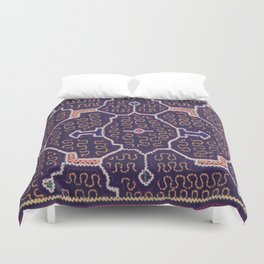 Song to Bring Wealth & Prosperity - Traditional Shipibo Art - Indigenous Ayahuasca Patterns Duvet Cover
