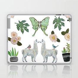 Llama and Luna Moth Laptop & iPad Skin